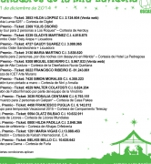 Ganadores de la Rifa de Navidad 2014 de OSCASI