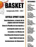 Basket Temporada 2016 - 2017