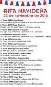 Resultados Rifa OSCASI Navideña 2015